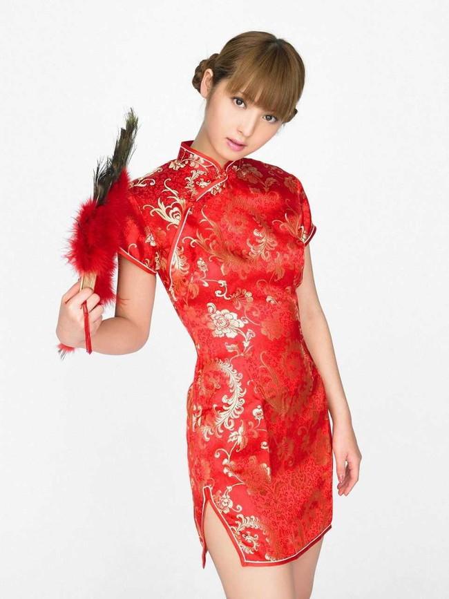 【おっぱい】チャイナドレスを着た女の子のおっぱいがエロすぎる画像【30枚】 18