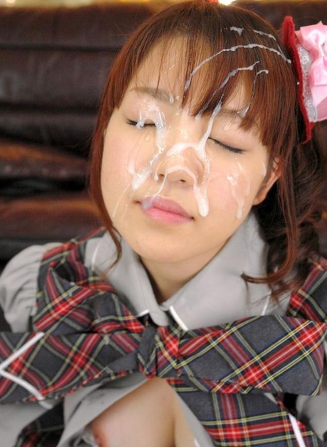 【おっぱい】顔射されて精子を顔にぶっかけられている女の子のおっぱい画像がエロすぎる!【30枚】