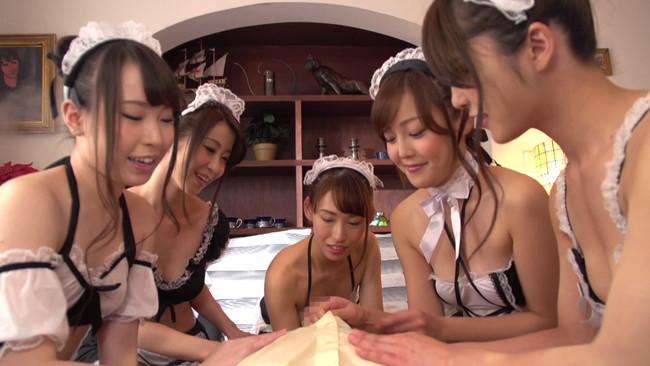 【おっぱい】セクシーなメイドランジェリーを着ながらエッチなお世話をしてくれる女の子のおっぱい画像がエロすぎる!【30枚】 05