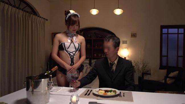 【おっぱい】セクシーなメイドランジェリーを着ながらエッチなお世話をしてくれる女の子のおっぱい画像がエロすぎる!【30枚】 14