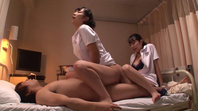 【おっぱい】看護師にせんずりを見せつけたらヤれたが・・・同僚にバレてしまい怒られるかと思ったら2人で一緒にヤってくれた画像がエロすぎる!【30枚】 06