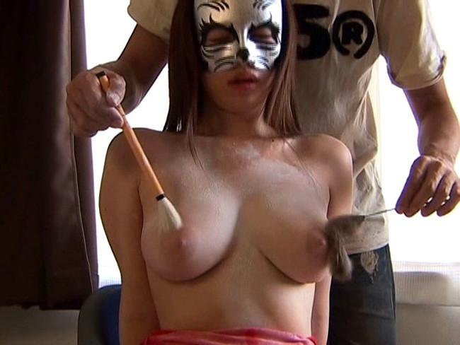 【おっぱい】自分のエロを解放する、仮面をつけた女の子のおっぱい画像がエロすぎる!【30枚】 16