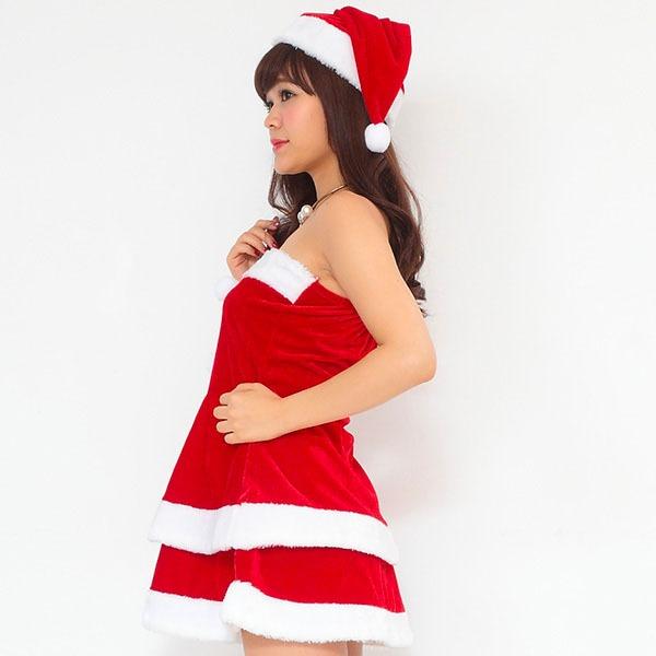 【おっぱい】エロエロなサンタコスチュームに身を包む女の子のおっぱい画像がエロすぎる!【30枚】 30