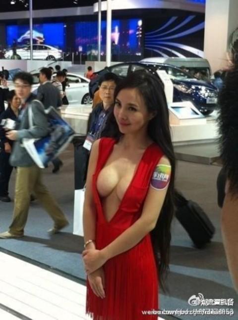 【おっぱい】中国、韓国のイベントで過激な衣装に身を包んだコンパニオンの女の子のおっぱい画像がエロすぎる!【30枚】 20