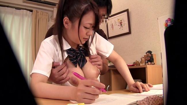 【おっぱい】男性家庭教師にエッチなことをされちゃった女の子のおっぱい画像がエロすぎる!【30枚】 11