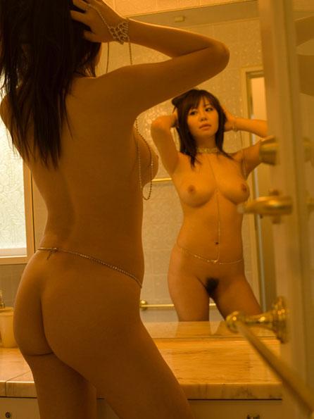 【おっぱい】鏡越しでおっぱいを見せつけてくる女の子のおっぱい画像がエロすぎる!【30枚】 28
