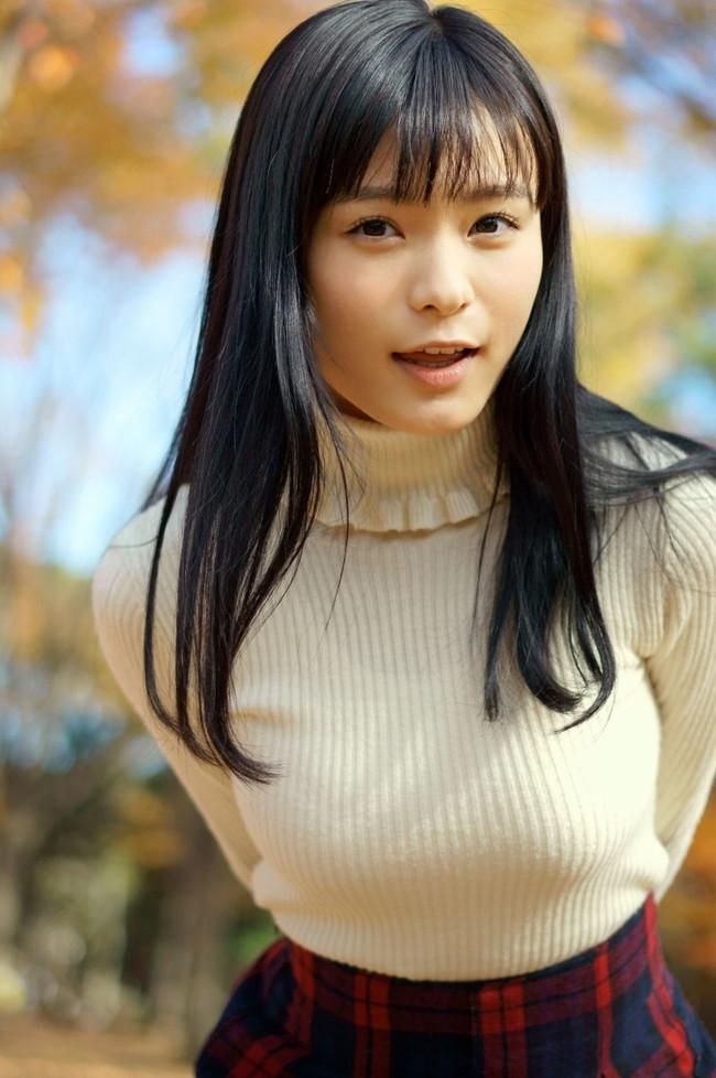 【おっぱい】あったかそうなセーターを着て、大きなおっぱいを主張してくる女の子の画像がエロすぎる!【30枚】 06
