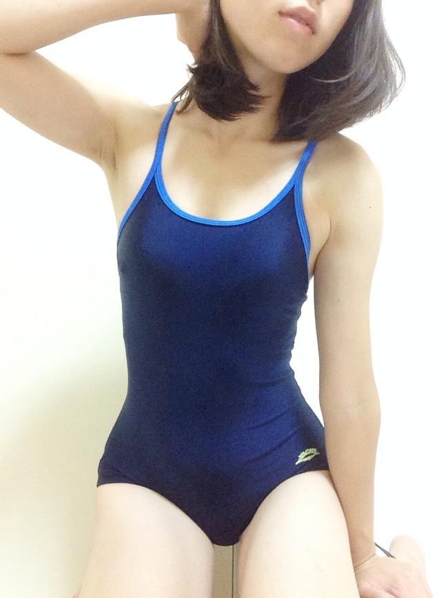 【おっぱい】スクール水着が絶妙に似合っている可愛い女の子のおっぱい画像がエロすぎる!【30枚】