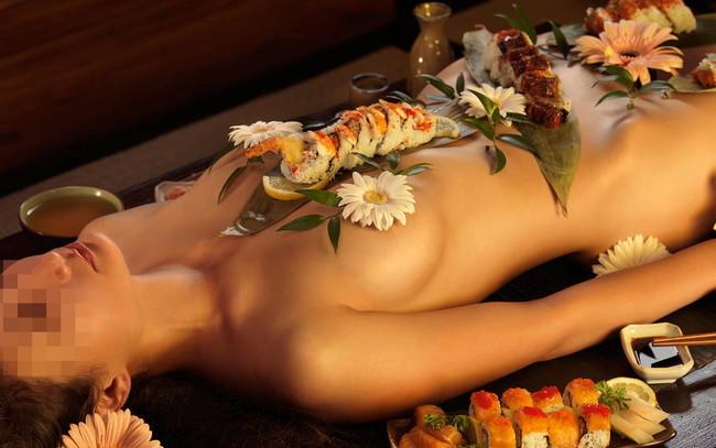 【おっぱい】お刺身やケーキ、そして私も召し上がれ!女体盛りで登場する女の子のおっぱい画像がエロすぎる!【30枚】 01