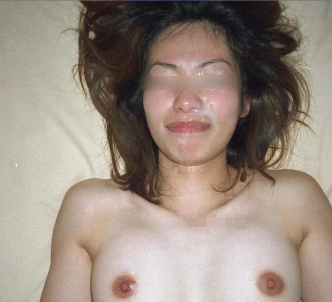 【おっぱい】綺麗な顔にたっぷりと顔射されて汚されちゃった女の子のおっぱい画像がエロすぎる!【30枚】 25