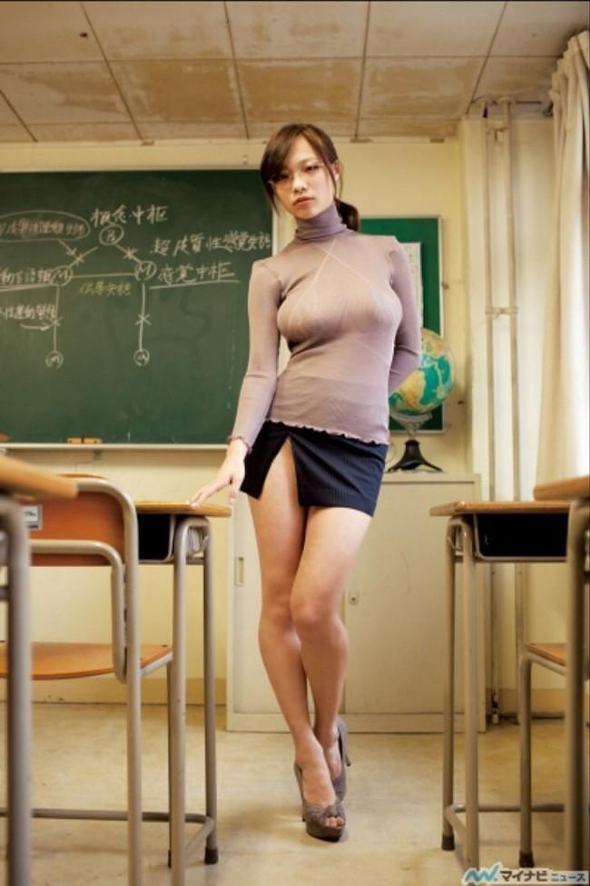 【おっぱい】おっぱいを強調するかのようにニット服を着こなしている女の子のおっぱい画像がエロすぎる!【30枚】 16
