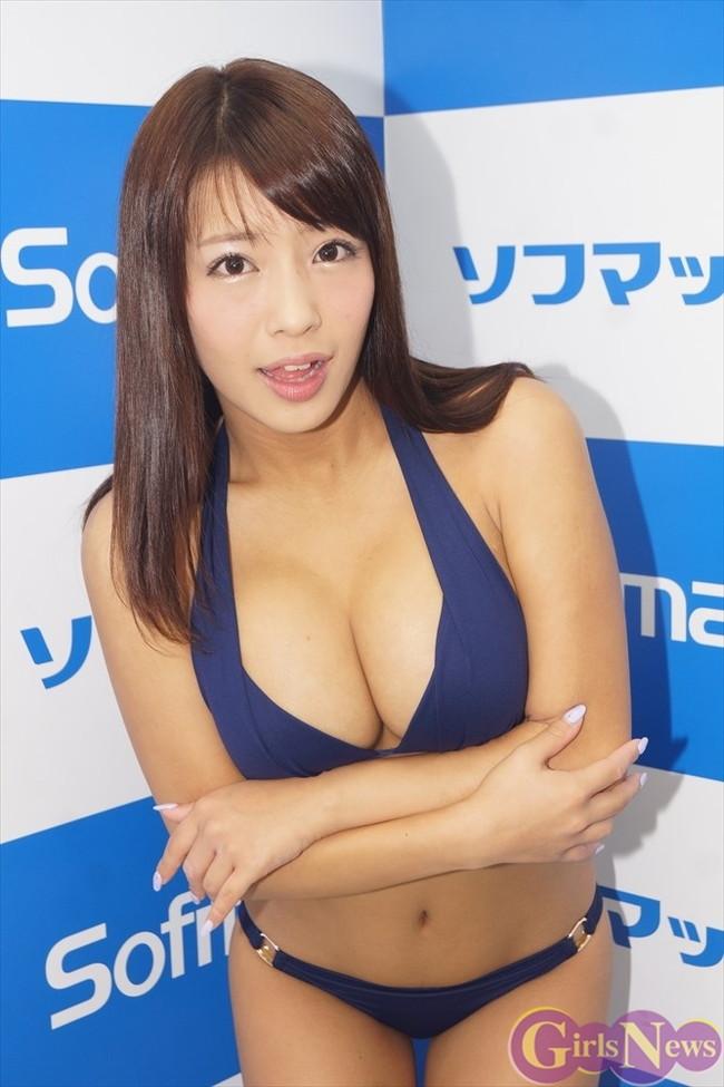 【おっぱい】Gカップ巨乳でアイドルとしても大活躍なグラビアアイドル・橋本梨菜ちゃんのおっぱい画像がエロすぎる!【30枚】 13