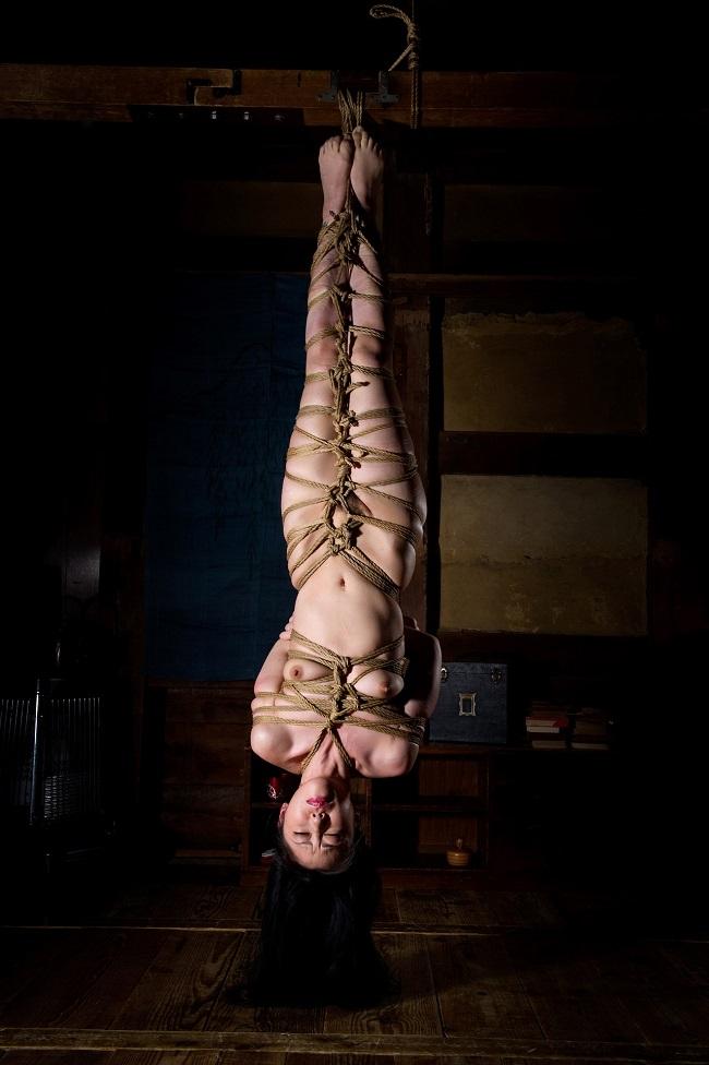【おっぱい】緊縛プレイの最高峰!逆さ吊りで縛られちゃっている女性のおっぱい画像がエロすぎる!【30枚】 12
