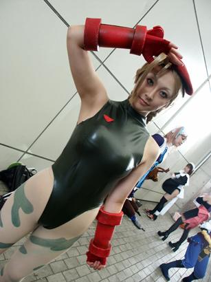 【おっぱい】『スーパーストリートファイターII』の人気キャラクター・キャミィでコスプレをしている女の子のおっぱい画像!【30枚】 24