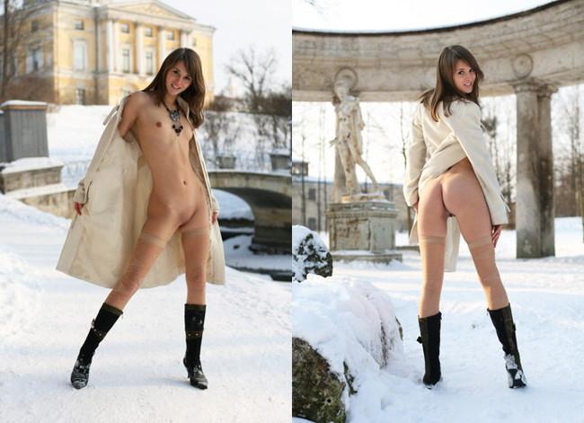 【おっぱい】冬の女の子のおっぱいは美しくてエロすぎる!【30枚】 21
