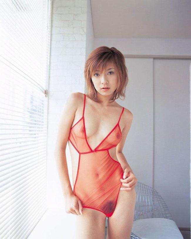 【おっぱい】赤い下着で誘惑してくる巨乳の女がエロすぎる!【30枚】 11
