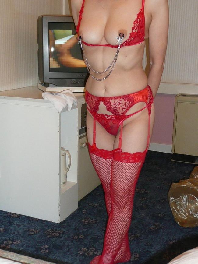 【おっぱい】赤い下着で誘惑してくる巨乳の女がエロすぎる!【30枚】 20