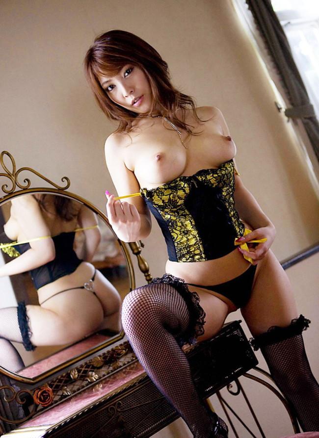 【おっぱい】セクシーランジェリーで誘惑してくる美巨乳お姉さまがスケベ過ぎる!【30枚】 14