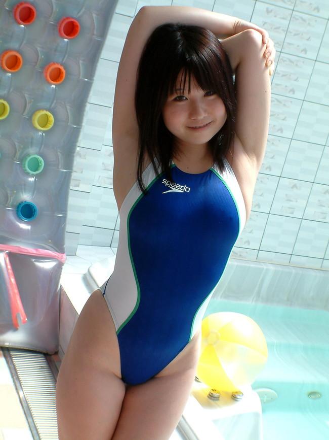 【おっぱい】競泳水着の上からでもおっぱいの形が分かっちゃうエロ画像【30枚】 06
