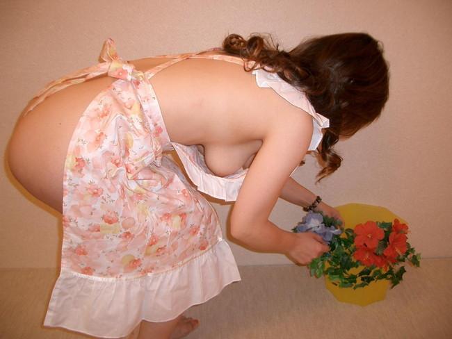 【おっぱい】裸エプロンで男性の胃袋と玉袋を掴んでくるスケベな女【30枚】 29