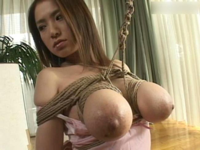 【おっぱい】紐などで縛られてしまっておっぱいが強調されてるエロ画像ww【30枚】 14