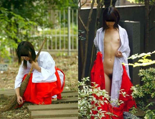 【おっぱい】新年早々おめでたい巫女さんのエロ画像!【30枚】 25