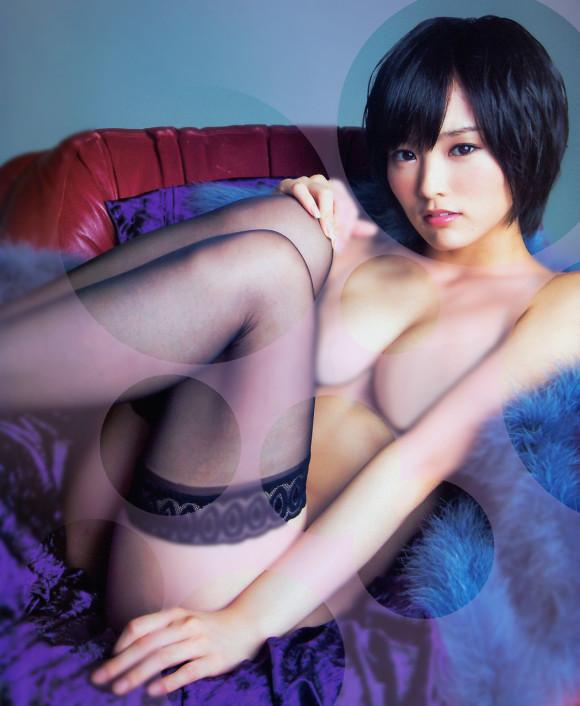 【おっぱい】水玉コラでアイドルをほぼ裸にひん剥いちゃってる微エロ画像!【30枚】 28