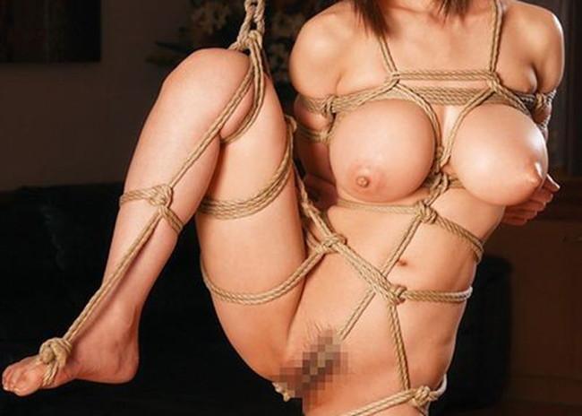 【おっぱい】荒縄などに縛られてしまいおっぱいが強調されているエロ画像【30枚】 11